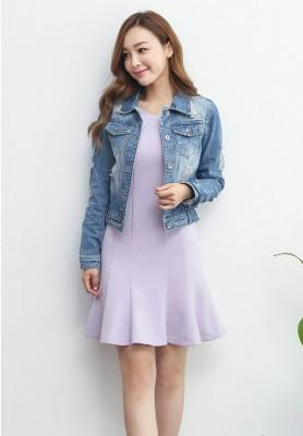 Titi Shop - Ao khoac jean nu Cao cap NT27 Nhap ( Xanh ) 8858