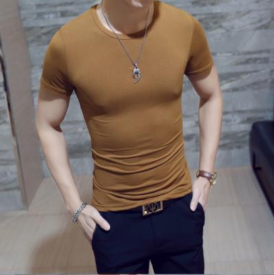 Titi Shop - Ao thun nam Co tron tay ngan AT233 hang nhap (Cam dat)
