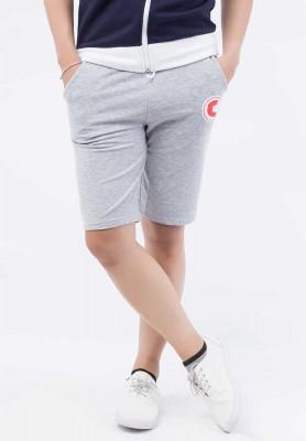 Titi Shop - Quan shorts Titishop mau xam phoi chu C QS45