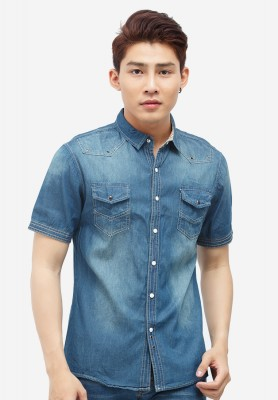 Titi Shop - Ao so mi nam Denim Cao cap ADN16