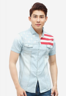 Titi Shop - Ao so mi nam Denim Cao cap ADN10