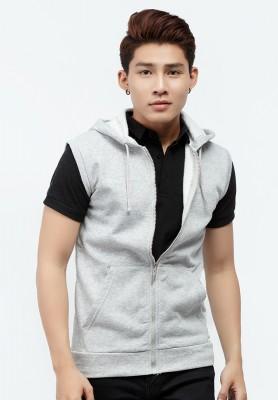 Titi Shop - Áo hoodie khoa keo Titishop AKN442 khong tay màu xam