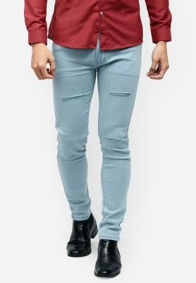 Titi Shop - Quan jeans Titishop QJ146 mau xanh da troi rach goi