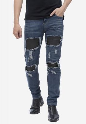 Titi Shop - Quan jeans Titishop QJ158 mau xanh duong rach ong
