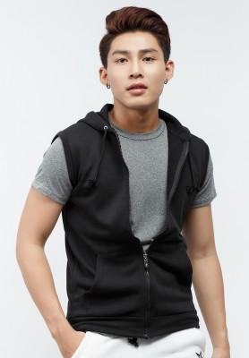 Titi Shop - Áo hoodie AKN441 Titishop khong tay màu den