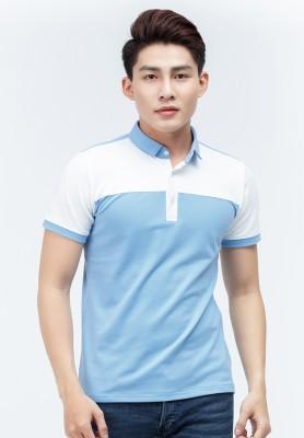 Titi Shop - Ao Thun ca sau Titishop AT297 mau xanh da troi phoi trang