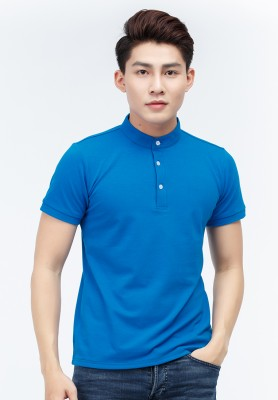 Titi Shop - Ao thun nam Slimfit Titishop AT290 co tru ( thun ca sau )