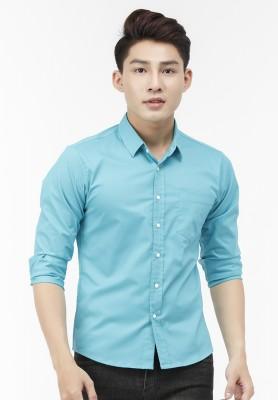 Titi Shop - Ao so mi Titishop SM539 tay dai mau xanh ngoc