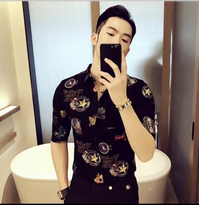 Titi Shop - Ao so mi Hoa tiet Titishop SM562 tay lung xu the