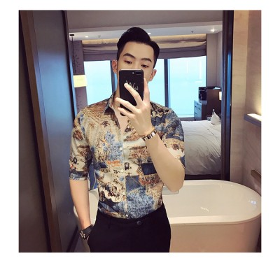 Titi Shop - Ao so mi Hoa tiet Titishop SM563 tay lung xu the
