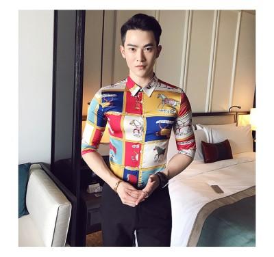 Titi Shop - Ao so mi Hoa tiet Titishop SM558 tay lung xu the
