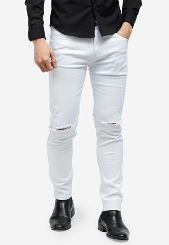 Titi Shop - Quan jeans Titishop QJ157 mau trang rach goi