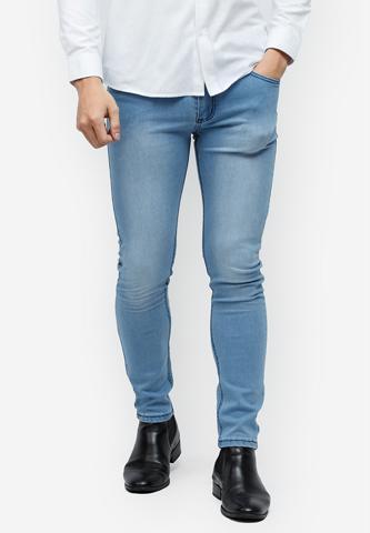 Titi Shop - Quan jeans Titishop QJ153 mau xanh duong wash ong