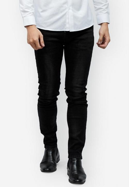 Quần jeans Titishop QJ154 màu đen ống ôm