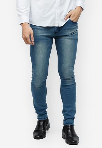 Titi Shop - Quan jeans Titishop QJ155 mau xanh duong ong om