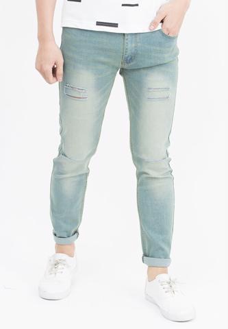Titi Shop - Quan jeans Nam rách gói màu den QJ106 ( Xanh bac)