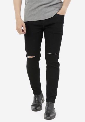 Titi Shop - Quan Jeans Titishop QJ170 mau den rach goi