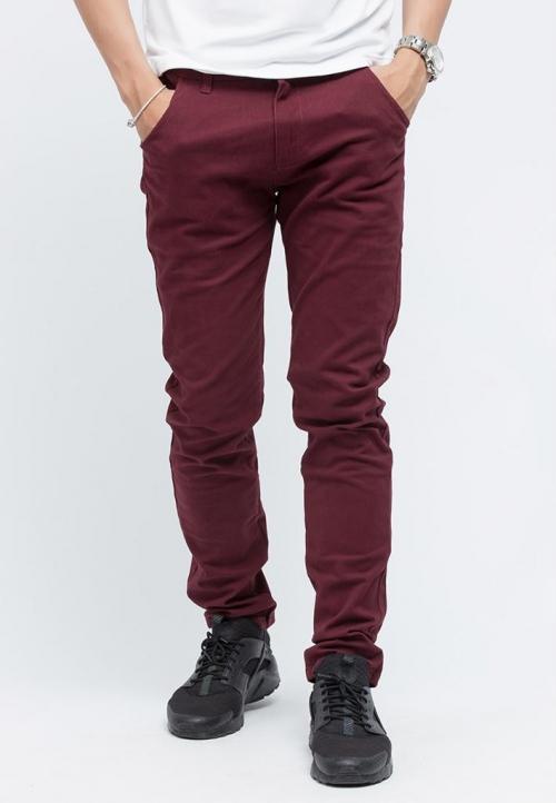Quần kaki Titishop QK02 màu đỏ đô
