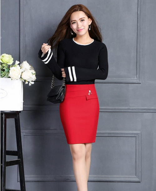 Chân váy nữ Kaki thun co giãn CV20606 ( đỏ )