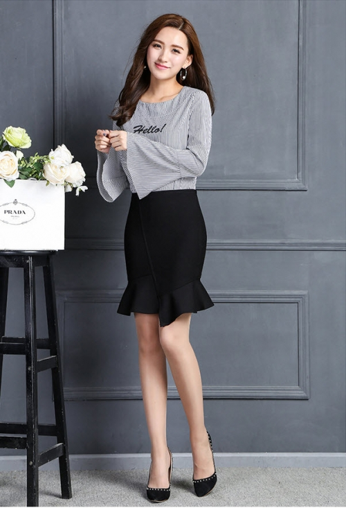 Chân váy nữ Kaki thun co giãn CV14 (Đen)
