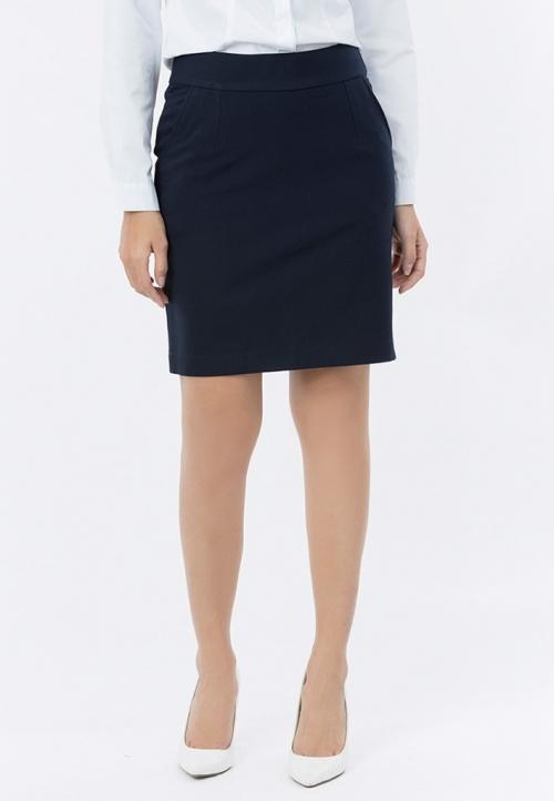 Chân váy công sở Titishop CV30 hai túi xéo màu xanh navy