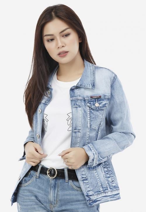 Áo khoác jean Titishop NT39 màu xanh da trời