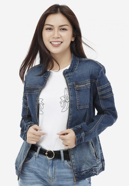Áo khoác jean Titishop NT40 màu xanh navy