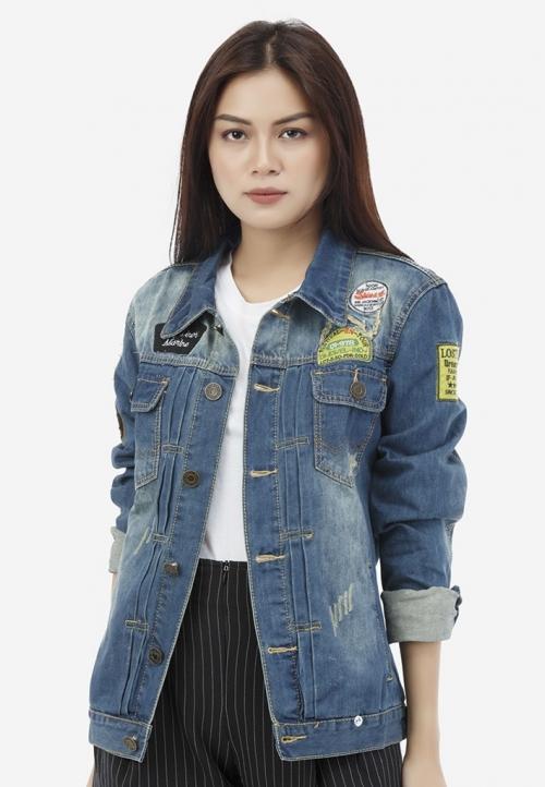 Áo khoác jean Titishop NT41 màu xanh jean