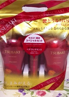 Set 3 dầu gội Tsubaki màu đỏ