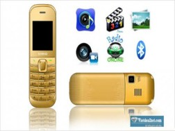 Điện thoại mini M2 kiểu dáng mini nhỏ gọn, có lớp mạ vàng và bạc sang trọng, đầy đủ tính năng: Quay phim, chụp hình, xem phim Mp4, nghe nhạc Mp3, radio,... giá chỉ 360.000 VNĐ giá thị trường 1.100.000 VNĐ giảm 67% chỉ có tại Vietdealhot.com