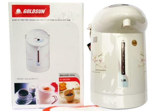 Bình Thủy Điện GoldSun 2,8 lít - TIỆN ÍCH CHO MỌI GIA ĐÌNH: Đun sôi giữ nóng, pha trà, sữa, café...