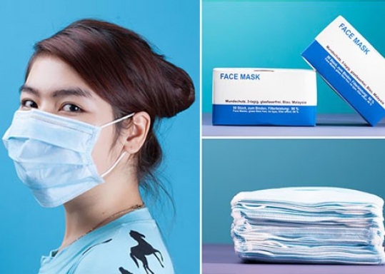 BẢO VỆ SỨC KHỎE CHO CẢ GIA ĐÌNH với 2 Hộp Khẩu Trang Y Tế Face Mask 100 cái. Chỉ 55.000đ giảm 50%