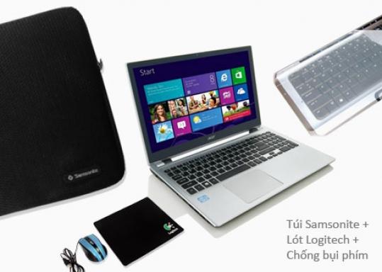 Combo 3 Sản Phẩm Cho Laptop: Túi chống sốc Samsonite, Lót chuột Logitech, Lót phím. Chỉ 65.000đ giảm 36%