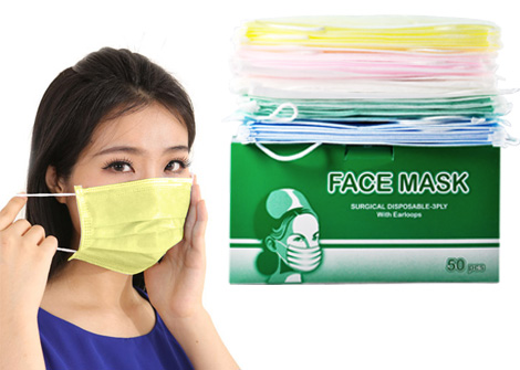 Hộp Khẩu Trang Thời Trang 5 Màu - Hộp 50 cái cho bạn thoả thích thay đổi màu sắc mỗi ngày. Bảo vệ sức khoẻ, phòng các bệnh đường hô hấp