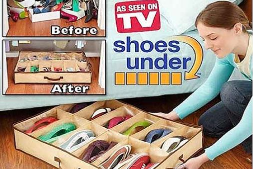 Túi Vải Đựng Giầy 12 Ngăn Shoes Under