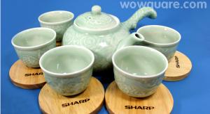 Bộ tách trà bằng sứ hiệu sharp
