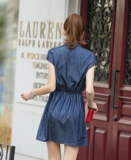 Đầm denim phong cách Hàn Quốc