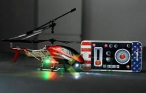 i-Helicopter 3.5channel tích hợp điều khiển đặc biệt với iPhone, iPad loại 20cm với hệ thộng từ động cân bằng GYRO, khả năng tăng tốc và bay ổn định, bạn sẽ hài lòng ngay từ lần thử đầu tiên.