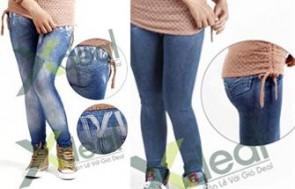 Thể Hiện Vẻ Tự Tin, Cá Tính Của Các Bạn Gái Cùng Quần Legging Giả Jeans – Kiểu Dáng Hiện Đại, Trẻ Trung