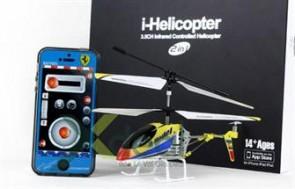 i-Helicopter LS-119 3.5channel tích hợp điều khiển đặc biệt với iPhone, iPad loại 20cm với hệ thộng từ động cân bằng GYRO.