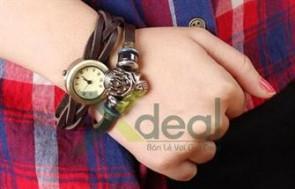 Đôi tay thêm xinh xắn và cực phá cách với chiếc Đồng hồ vòng tay 2 in 1 độc đáo, siêu dễ thương .