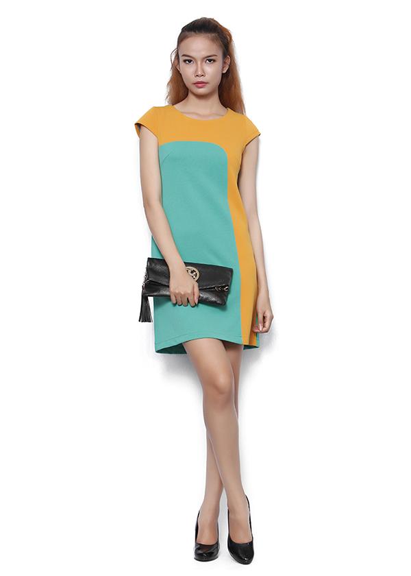 Đầm suông phối màu cá tính - MS31