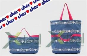 Túi xách vải Cher Love 2 in 1 - Big size cho phép bạn tha hồ mang theo những vật dụng cá nhân, sổ sách… khi đi học, đi làm hay shopping với giá hấp dẫn chỉ có 50.000đ. HOTHOT