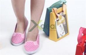 Chân xinh xuống phố với giày búp bê Pinky chấm bi thời trang và xinh xắn. Giá chỉ có 99.000đ tại Xdeal.vn.