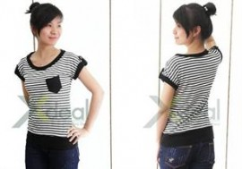 Trẻ trung và thoải mái dạo phố với áo thun F5-Fashion sọc đen trắng for teen girl chất liệu cotton 100% - co giãn và thấm hút tốt. Giá cực hấp dẫn chỉ có 99,000đ.