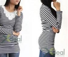 Thêm xinh xắn và dễ thương trong mẫu áo thun nữ sọc đen trắng Cute Girl phong cách. Giá cực ưu đãi chỉ 59,000đ tại Xdeal.vn.