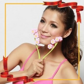 máy massage mặt Flower Face up Roller... - Đồ Dùng Cá Nhân