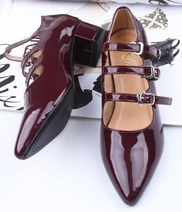 Giày nữ gót vuông cá tính