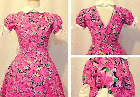 Đầm hoa tay phối nơ