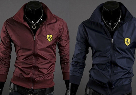 Áo khoác dù nam in logo cá tính